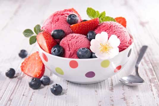 курсове за сладкари - Сладолед и сорбе